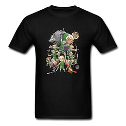 Anti Hero Shirt Australia - One Hero T-shirt Men Tops Legend Of Zelda Tops Game Tees Summer Cotton Clothing Black Tshirt Cartoon T-shirt Cool
