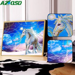 $enCountryForm.capitalKeyWord Australia - wholesale Diamond Painting Horse Special Shaped DIY Diamond Embroidery Animals Picture Of Rhinestone 5D Mosaic Cartoon 40x50cm