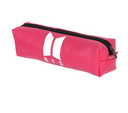 Stationery bagS online shopping - BTS Starry Sky Pen Bag BT21 Bangtan Boys Laser Cute Pencil Case Quality BTS PU Stationery Pencilcase School Supplies