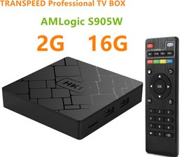 free tv receiver box UK - Transpeed Android Smart TV BOX 4K Amlogic S905W 2G RAM 16G ROM Set Top Box Wifi media player TV Receiver Play store Free Apps