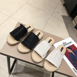 flax clothing NZ - Pretty2019 Slipper Flax Other Clothes The Summer Series One Word Sandals Fisherman Shoe Woman