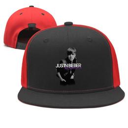 $enCountryForm.capitalKeyWord Australia - Justin Bieber black Design Snapback Flat Bill Brim Baseball Cap Hip-Hop Trucker Hat Adjustable Holiday