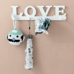 $enCountryForm.capitalKeyWord Australia - Retro white love hat hat key ring clothes bag robes hanging screw ledge door bathroom home decoration hanger key ring wall hook