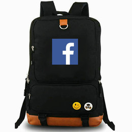 leisure outdoor sports canvas bag UK - FB backpack Facebook daypack Chat on line best laptop schoolbag Leisure rucksack Sport school bag Outdoor day pack