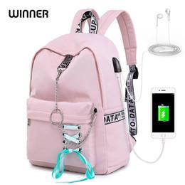$enCountryForm.capitalKeyWord Australia - Winner Fashion Waterproof Women Backpack Anello Travel Knapsack Usb Charging Ribbon College Girls Bookbags Cute Bagpack Rugtas Y19052202