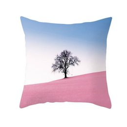 Gift Throw UK - New Special offer promotion Nature forest Style Throw Pillowcase Square Pillow Cover Custom Gift Removable Without pillow 45*45cm