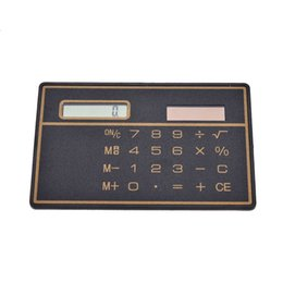 mini slim card calculator solar UK - Mini Slim Credit Card Solar Power Pocket Calculator Counter Calculating Machine