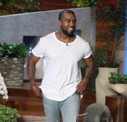 Long Curved Hem T Shirt Australia - men's T Shirt Kanye West Extended T-Shirt Men's clothing Curved Hem Long line Tops Tees Hip Hop Urban Blank Justin Bieber Shirts TX135-R3
