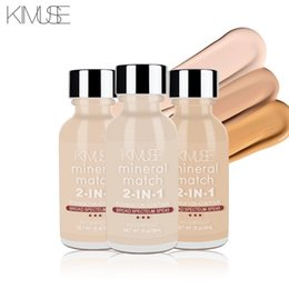 Block Faces Australia - KIMUSE Mineral Match 2-in-1 Liquid Foundation Contouring Face Makeup Base Moisturizer Oil-control Waterpoof Facial Make up