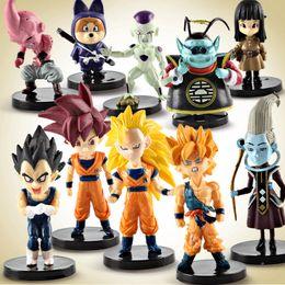 Action Figures Goku Super Saiyan Australia - 10pcs lot Anime Dragon Ball Z Super Saiyan Son Goku Vegeta Buu Freeza set PVC Action Figure Collectible Model kids gift