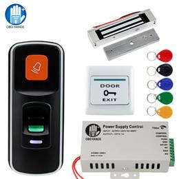 $enCountryForm.capitalKeyWord NZ - OBO RFID Door Access Control System Kit Set 125KHz Fingerprint Biometric +Electric Magnetic Electronic Locks+ DC12V Power Supply