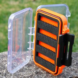 Gancio di stoccaggio Organizer impermeabile vano portatile in plastica ABS Attrezzatura da pesca Lure Case Accessori Bait Container Double Sided