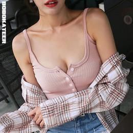 $enCountryForm.capitalKeyWord Australia - Bobokateer Sexy Slim Tank Women Sleeveless Top Halter White Black Bustier Summer Crop Tops Blusa Cropped Feminino Q190521