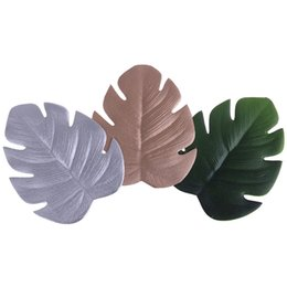 $enCountryForm.capitalKeyWord NZ - Home Decor Placemat for Kitchen Dining Table Christmas Simulation Plant Palm Leaf EVA Table Mat Decorative Pad Coasters