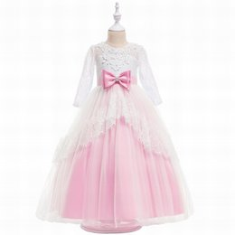 Custom Baby Tutus Australia - Children Tutu Birthday Girl Baby Toddler Dress Pincess Pageant Flower Girl Dresses Party Dress Kids Prom Gown DHA39