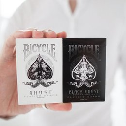 Bicycle Black Ghost Australia - Ellusionist Bicycle Black White Ghost Deck Magic Cards Playing Card Poker Close Up Stage Magic Tricks for Professional Magician
