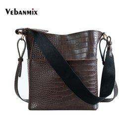 Alligator Women Shoulder Bag Large Capacity 2 Strap Bucket Handbags Quality  PU Leather Women s Totes Shopping Bag Bolsa Feminin b4c3460d7003b