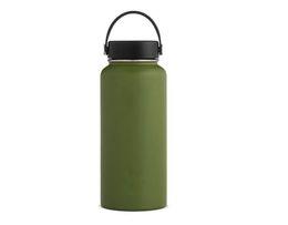 $enCountryForm.capitalKeyWord Australia - 40 oz Vacuum water bottle Insulated 304 Stainless Steel Water Bottle Wide Mouth big capacity water bottles with Leak Proof Flex Cap
