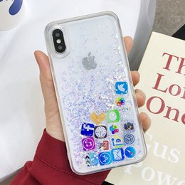 $enCountryForm.capitalKeyWord Australia - Cell Phone Cases Simple Apple mobile phone shell app desktop icon iPhone 7G mobile liquid powder cute girl