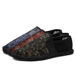 $enCountryForm.capitalKeyWord UK - SUROM Men's Espadrilles Slip On Canvas Upper Hemp Sole Male Loafers Floral Print Men Flat Heel For Casual Shoes Size 39- 45 #363488