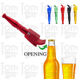 metal smoking Australia - Multi-Function 112MM Aluminum Metal Tobacco Herb Pipe Also Cola Beer Screwdriver Suitable To Summer Use Smoking Hand Pipe Accessories