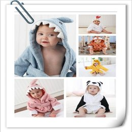 $enCountryForm.capitalKeyWord Australia - Newborn Baby Hooded Pajamas Animal Bathrobe Cartoon Baby Towel Kids Bath Robe Infant Toddler Bath Towels 27 Styles 65cm CFYZ173