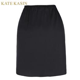 $enCountryForm.capitalKeyWord Australia - Kate Kasin White Half Slip Petticoat Women Short Slips Underskirt Ladies Sexy Waist Elastic Black Solid Slip For Dress