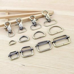 Dog Plates Australia - Meetee metal bag hanger brass fitting plate buckle dog key chain lobster clasp claw handbag bags hardware accessories