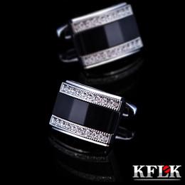 $enCountryForm.capitalKeyWord Australia - Kflk Jewelry French Shirt Cufflink For Mens Brand Fashion Black Cuffs Link Button High Quality Luxury Wedding Male Free Shipping T190701