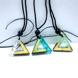Chain Heal Australia - Necklace Jewelry Cheap Healing Triangle Crystals Solid wood resin pendant rope chain necklace fashion jewelry