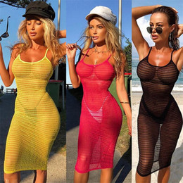beach sexy cloth Australia - New Womens Lace Sexy Summer Crochet Bathing Suit Bikini Swimwear Cover Up Beach Dress Hollow Out One Piece Tops