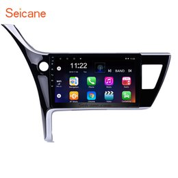 Discount toyota car gps navigation corolla - 1024*600 Touch Screen 10.1 inch Android 8.1 Car Stereo GPS Navigation for 2017 Toyota Corolla (LHD) left driving with Bl