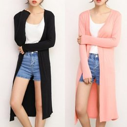 $enCountryForm.capitalKeyWord Australia - 2019 Women's Casual Long Modal Cotton Sweater Cardigan Soft Comfortable Strong Dangling Simple Solid Free Size Loose Thin Cardigan