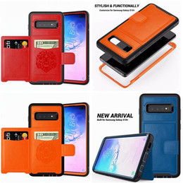 6d7747bb37b6 Credit Cards Slot Armor Leather Case For Iphone XR X XS Max 8 7 6 6S Plus  Samsung Galaxy S9 Plus NOTE9 Fold Holder Phone Stand Skin Cover