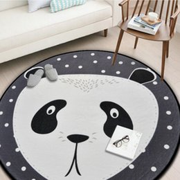 $enCountryForm.capitalKeyWord NZ - Chinese Panda Round Carpets For Living Room Cartoon Soft Carpet Kids Room Cute Rugs Bedroom Computer Chair Mat Rug