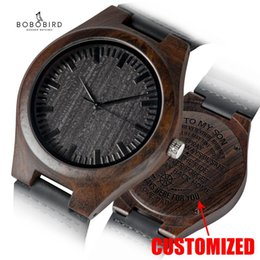 anniversary gifts for mom Australia - Personalized Engraved Wooden Watches Gifts For Dad,,Mom, friends, Birthday,Anniversary Day,Groomsman