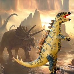 $enCountryForm.capitalKeyWord Australia - 2019 New Inflatable Mascot Stegosaurus Costume Funny Dinosaur Dress Adult Size for Halloween Christmas Party Carnival costumes Set