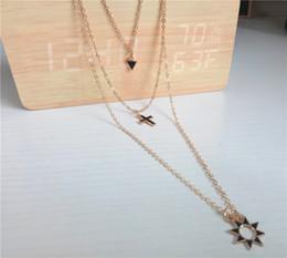 Rose Pendant Jewellery Australia - cecmic essential oil diffuser pendant gold long necklace sale multi strand three layered necklace jewelry jewellery