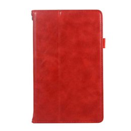 Genuine Leather China Australia - Classic Half Genuine Leather Tablet Case Cover For Huawei M5 8.4 With Shockproof Folding Stand Protective Case Shell