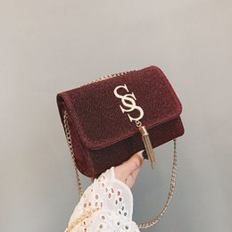 $enCountryForm.capitalKeyWord Australia - Belle2019 Ms Tide Woman Bag Ins Exceed Fire Single Shoulder Satchel Tassels Small Square Package