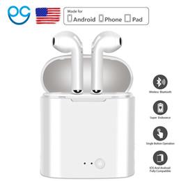 I7 Yeni Mini Kablosuz Bluetooth Kulaklık Şarj Kutusu Ile Stereo iphone Android hava bakla için Stereo Kulaklık Kulaklık Kulaklık indirimde
