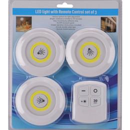 $enCountryForm.capitalKeyWord Australia - 3pcs set Wireless Spot Light Stick-On Anywhere Tap Night Lamps Battery NOT Included LED Under Cabinet Night Light