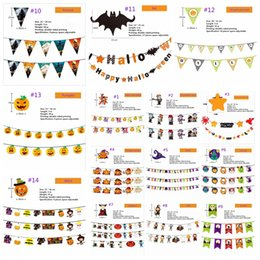$enCountryForm.capitalKeyWord Australia - Halloween Paper Flag Hanging Flag Pumpkin Skeleton Hanging Flag Pennant Rahua KTV Bar Scene Decoration -Z110