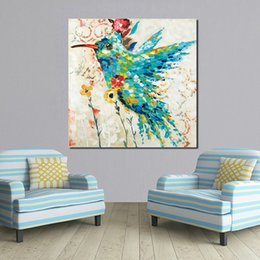 modern flower oil painting canvas Australia - 1 Piece Bird Flower Modern Home Decor Oil Painting Wall Pictures For Living Room Paintings On Canvas No Frame