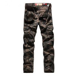 China Men s Personality Camouflage Uniforms Long Trousers Cargo Pants Military Pants Good Quality Pockets Army Green plus size suppliers