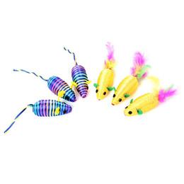 $enCountryForm.capitalKeyWord NZ - Pet Cat Toys Silk Yarn False Mouse Colorful Feather Lovely Chew Playing Toys