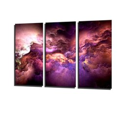 Wall Graphics Prints Australia - Clouds, Colorful Graphics,3 Pieces Canvas Prints Wall Art Oil Painting Home Decor (Unframed Framed) .