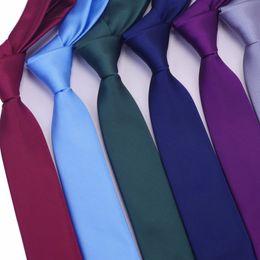 $enCountryForm.capitalKeyWord Australia - Skinny Necktie Polyester Plain Ties For Men Wedding Suit Slim Classic Solid Color Neck Tie Casual Pure 6cm Red Tie