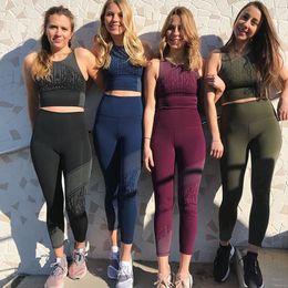 $enCountryForm.capitalKeyWord Australia - New Sexy Dance Sport Yoga Set Women Tracksuit Fitness Tights Gym Running Pants Sportswear Crop Tops and Leggings Sports Clothing
