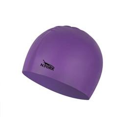 Nuevo N. york gorro de natación impermeable de silicona natación piscina sombrero para adultos hombres mujeres niños # ne804 en venta